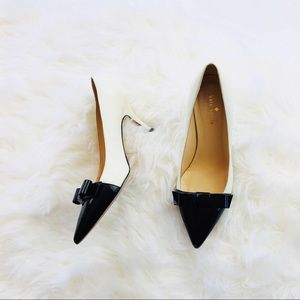 Kate Spade Janira Patent Bow Leather Pumps